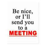 Send You To A Meeting Sarcastic Office Humor Postcard