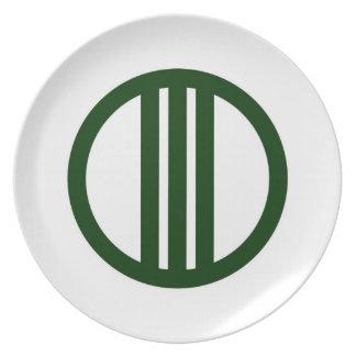 Sendai city flag Miyagi prefecture japan symbol Dinner Plate