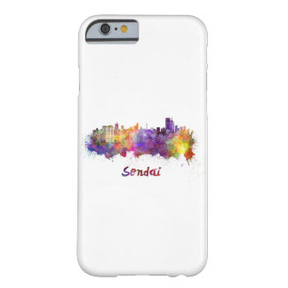 Sendai skyline in watercolor barely there iPhone 6 case