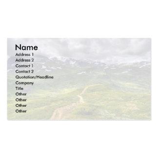 Sendero de la montaña tarjetas de visita