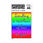 Sending a rainbow of love to you! Postage Stamp