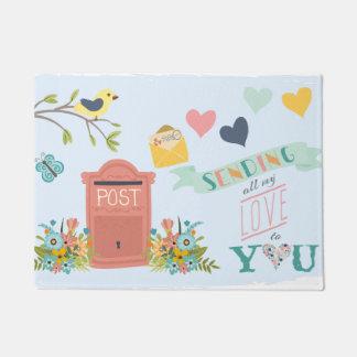 Sending All My Love Door Mat