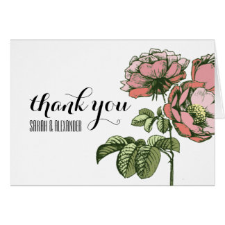 Sending Blooming Roses & Thank You Notes