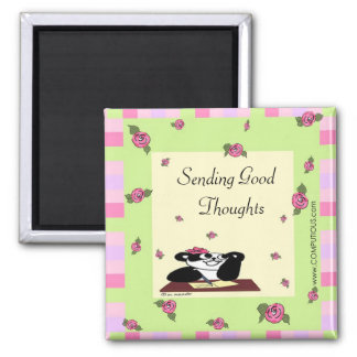 Sending Good Thoughts 2 Inch Square Magnet