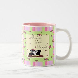 Sending Good Thoughts Two-Tone Coffee Mug