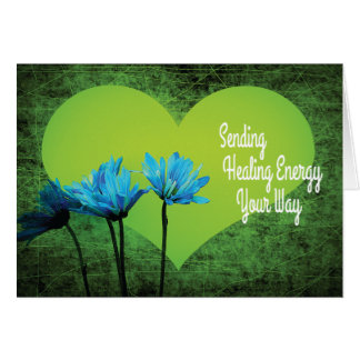 Sending Healing Energy with Green Heart Card