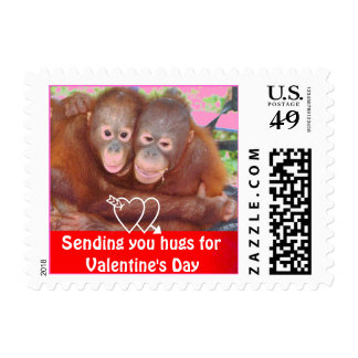 Sending Hugs for Happy Valentine's Day Postage Stamps
