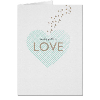 Sending Lots of Love Stationery Note Card
