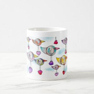 'Sending lots of love your way' Bird Mug