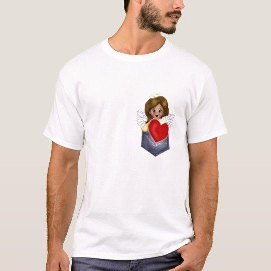 Sending Love Pocke tAngel T-Shirt