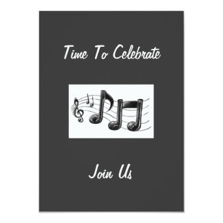 """SENDING MUSICAL NOTES TO OUR GUESTS TO """"CELEBRATE"""" CARD"""