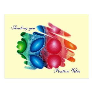Sending Positive Vibes Spirals Quadric Postcard
