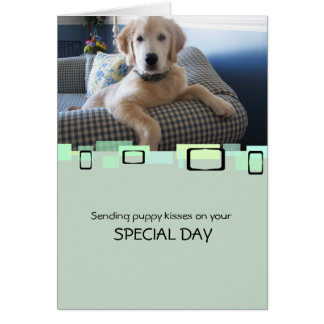 Sending Puppy Kisses On Your Special Day Stationery Note Card
