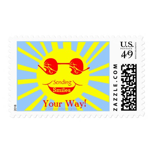 Sending Smiles Your Way! Postage Stamps Stamp