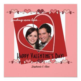 Sending some Love Valentine's Day Photo Invitation