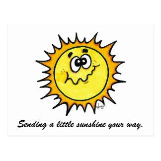 Sending Sunshine Postcard