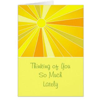 Sending Sunshine Thinking of You Greeting Card