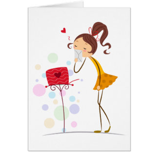 Sending Sweet Kisses Card