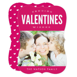 Sending Valentines Wishes Cute Photo Card