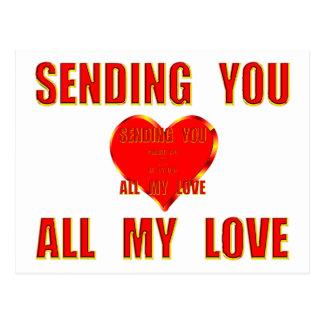 Sending You All My Love 3D Postcard