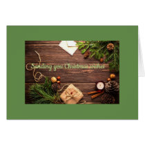 Sending you Christmas wishes greeting card