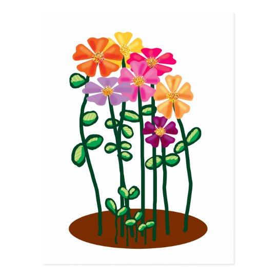 Sending you flowers postcard