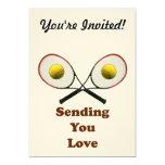 "Sending You Love Tennis 5"" X 7"" Invitation Card"