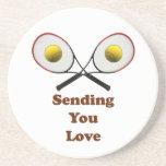 Sending You Love Tennis Beverage Coaster
