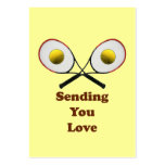 Sending You Love Tennis Business Card Templates