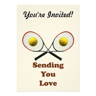 Sending You Love Tennis Custom Invitations