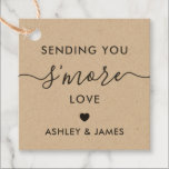 "Sending You S'more Love Tag, Wedding Tag, Kraft Favor Tags<br><div class=""desc"">These are the perfect little gift tags. You can customize front and back text,  as well as change the colors.</div>"