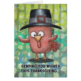 Sending you Thanksgiving Wishes... Eat Beef Card