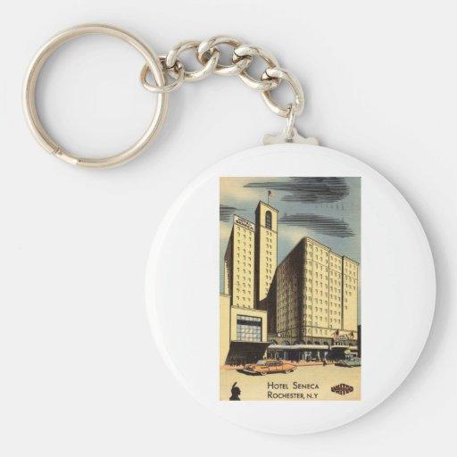 Seneca del hotel, vintage de Rochester NY Llaveros Personalizados