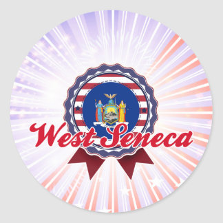 Seneca del oeste, NY Pegatina Redonda