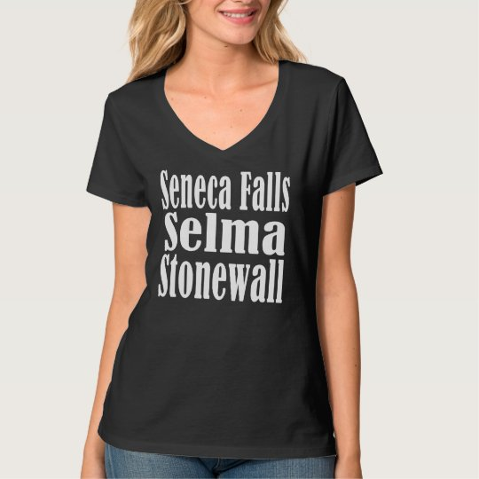 Seneca Falls Selma Stonewall V-Neck T-shirt Dark