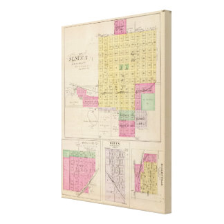 Seneca, Oneida, Goffs, y Baileyville, Kansas Impresión En Lienzo
