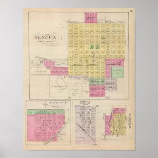 Seneca, Oneida, Goffs, y Baileyville, Kansas Póster