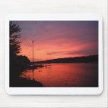 Seneca River Sunset Mousepads