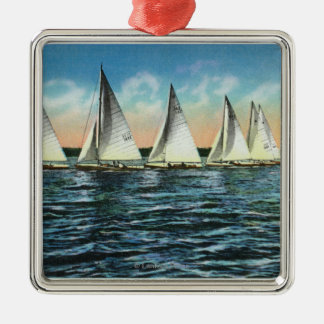 Seneca Yacht Club Metal Ornament