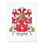 "Senechal Family Crest 6.5"" X 8.75"" Invitation Card"