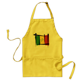 Senegal Brush Flag Adult Apron