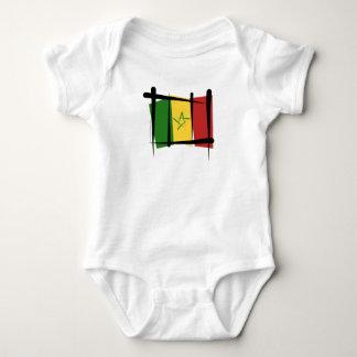 Senegal Brush Flag Baby Bodysuit