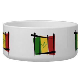 Senegal Brush Flag Bowl