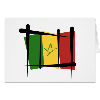 Senegal Brush Flag Card