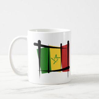 Senegal Brush Flag Coffee Mug
