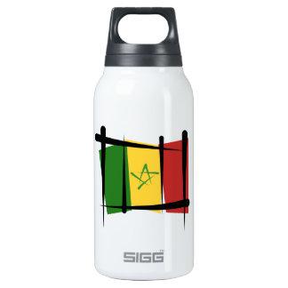 Senegal Brush Flag Insulated Water Bottle