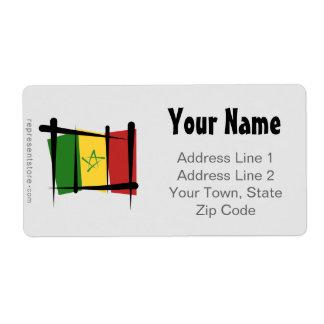 Senegal Brush Flag Label