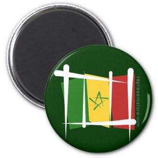 Senegal Brush Flag Magnet