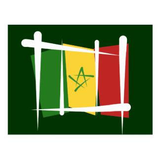 Senegal Brush Flag Postcard