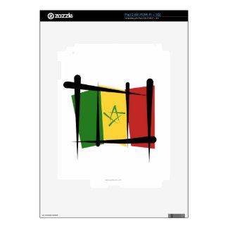 Senegal Brush Flag Decals For iPad 2